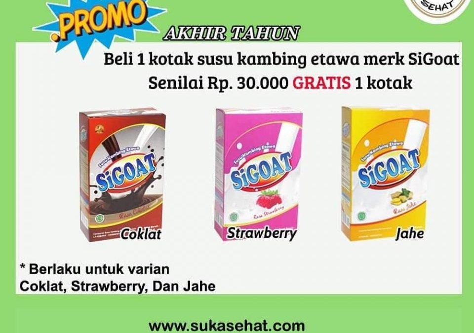 Promo Akhir Tahun Susu SiGoat dari Suka Sehat